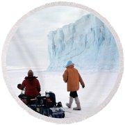 Capeevans-antarctica-g.punt-2 Round Beach Towel