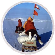 Capeevans-antarctica-g.punt-3 Round Beach Towel