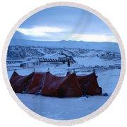 Capeevanshut-antarctica-g.punt-9 Round Beach Towel