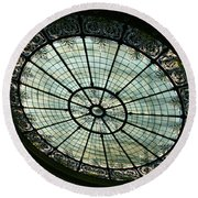 Capital Building Stained Glass  Round Beach Towel