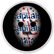 Capitals Goalie Mask Round Beach Towel