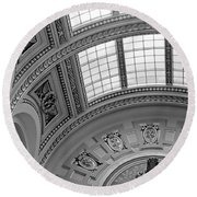 Capitol Architecture - Bw Round Beach Towel
