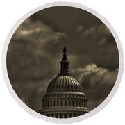 Capitol Dome Round Beach Towel