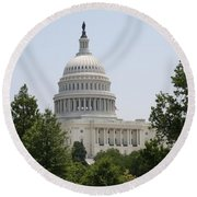 Capitol Dome  Washington Dc Round Beach Towel