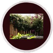 Capitol Hill Secret Garden Round Beach Towel