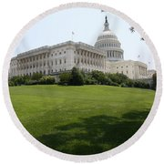 Capitol Hill View Washington Dc Round Beach Towel