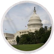 Capitol Hill Washington Dc Round Beach Towel