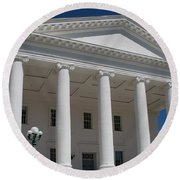 Capitol Pillars - Richmond Round Beach Towel
