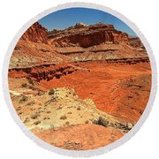 Capitol Reef Colorful Landscape Round Beach Towel