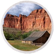 Capitol Reef Homestead Round Beach Towel