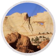 Capitol Reef National Park, Utah Round Beach Towel by Mark Newman