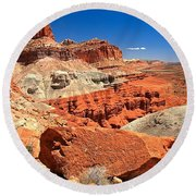 Capitol Reef Waterpocket Fold Round Beach Towel
