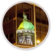 Capitol Reflection Round Beach Towel