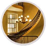 2 - Capitol Staircase - Montgomery Alabama Round Beach Towel