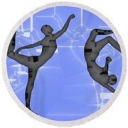 Capoeira 2 Round Beach Towel