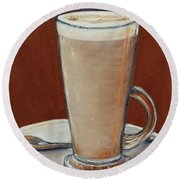 Cappuccino Round Beach Towel