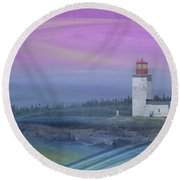 Capricious Lighthouse... Round Beach Towel