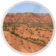 Caprock Canyon 1 Round Beach Towel