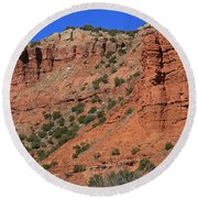 Caprock Canyon 3 Round Beach Towel