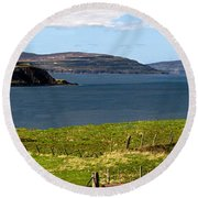 Captain Frasers Folly Tower Round Beach Towel