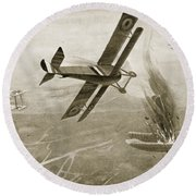 Captain Hawkers Aerial Battle Round Beach Towel