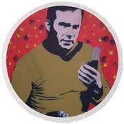 Captain Kirk Round Beach Towel