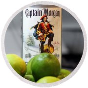 Captain Morgan Round Beach Towel