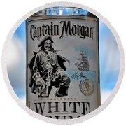 Captain Morgan White Rum Round Beach Towel