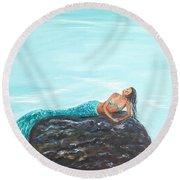 Captivating Mermaid Round Beach Towel