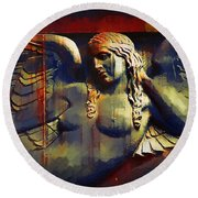 Captive In Stone Round Beach Towel