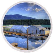 Bayview Marina 3 Round Beach Towel