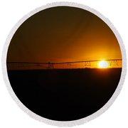 Capture The Sun Round Beach Towel