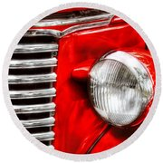 Car - Chevrolet Round Beach Towel by Mike Savad