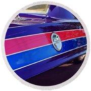 Car Colors Round Beach Towel