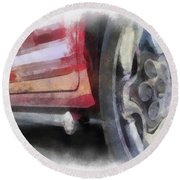 Car Rims 02 Photo Art 01 Round Beach Towel