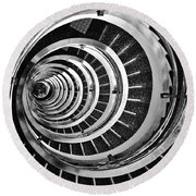 Time Tunnel Spiral Staircase In Sao Paulo Brazil Round Beach Towel