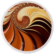 Caramel  Round Beach Towel
