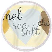 Caramel Sea Salt And Chocolate Round Beach Towel