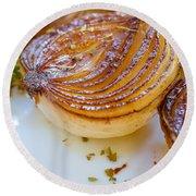 Caramelized Balsamic Onions Round Beach Towel