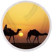 Caravan Morocco Round Beach Towel