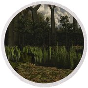 Carboniferous Forest Of The Eastern Round Beach Towel