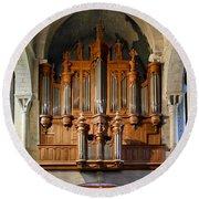 Carcassonne Organ Round Beach Towel