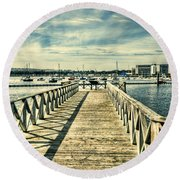 Cardiff Bay Wetlands 2 Round Beach Towel