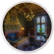 Cardiff Castle Apartment Dining Room Round Beach Towel