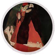 Cardinal And Nun Round Beach Towel