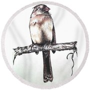 Cardinal Female Round Beach Towel