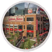 Cardinals Nation Ballpark Village Dsc06176 Round Beach Towel