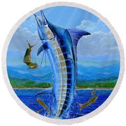 Caribbean Blue Off0041 Round Beach Towel