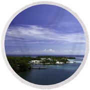 Caribbean Breeze Five Round Beach Towel