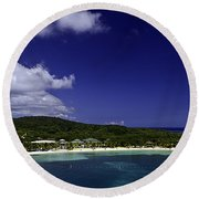 Caribbean Breeze Nine Round Beach Towel